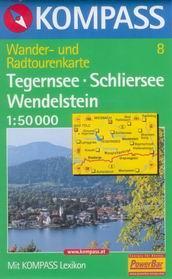 Tegernsee, Schliersee, Wendelstein - mapa Kompass  - č.8 1:50t /Německo,Rakousko/