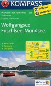 Wolfgangsee, Fuschlsee, Mondsee - mapa Kompass č.018 - 1:25 000 /Rakousko/