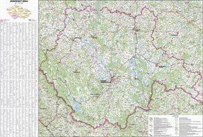 Kraj - Jihočeský -ZES- 1:170 000 - nástěnná mapa