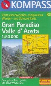 Gran Paradiso, Valle dAosta - mapa Kompass č.86 - 1:50t /Itálie,Francie/