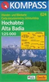 Hochabtei /Alta Badia - mapa Kompass č.624 - 1:25t /Itálie/