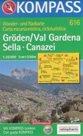 Grden /Val Gardena/, Sella, Canazei - mapa Kompass č.616 - 1:25t /Itálie/
