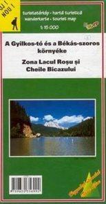 Rumunsko - Zona Lacul Rosu si Cheile Bicazului - mapa DiM5 - 1:15t