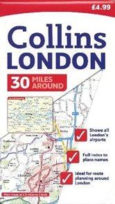 Londýn - 30miles around - mapa Collins - 1:95 000 /Velká Británie/