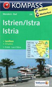 Chorvatsko - Istrie - mapa Kompass č.238 - 1:75 000