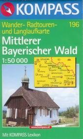Mittlerer Bayerischer Wald - mapa Kompass č.196 - 1:50t /Německo,Česká republika/