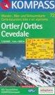 Ortler, Cevedale - mapa Kompass č.72 - 1:50t /Itálie,Švýcarsko/