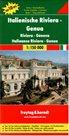 Itálie - Riviera, Janov - mapa Freytag - 1:150 000