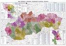 Slovenská republika - administrativní - 1:400 000 - nástěnná mapa /VKÚ/