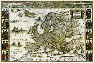 Podložka - Historická Evropa - 66x44cm