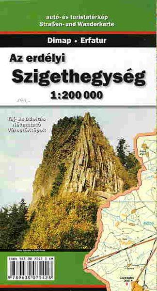 Rumunsko - Muntii Apuseni - mapa Dim3 - 1:200T - skládaná mapa