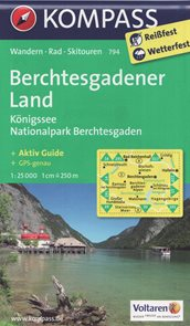 Berchtesgadener Land, Knigsee - mapa Kompass č.794 - 1:25t /Německo,Rakousko/