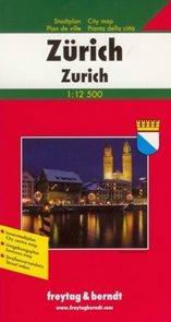 Zürich - plán Freytag - 1:12 500 /Švýcarsko/