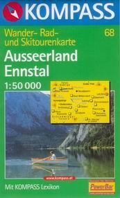 Ausseerland, Ennstal - mapa Kompass č.68 - 1:50t /Rakousko/