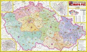 Česká republika PSČ - 1:440 000 - nástěnná mapa
