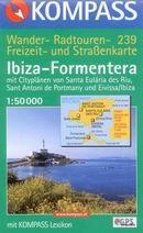 Ibiza, Formentera - mapa Kompass č.239 - 1:50 000 /Španělsko,Baleárské o./