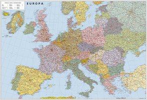 Evropa silniční - politické rozdělení -2A0- 1:2 835 000 - nástěnná mapa /ZES/