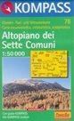 Altopiano dei Sette Comuni - mapa Kompass č.78 - 1:50t /Itálie/
