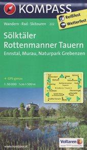 Slktäler, Ennstal, Murau, Rottenmann, NP Grebenzen - mapa Kompass č.222 - 1:50t /Rakousko/