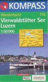 Vierwaldstätter See, Luzern - mapa Kompass č.116 - 1:50t /Švýcarsko/