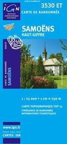 Francie - Samoëns, Haut-Giffre - mapa IGN č.3530et - 1:25 000