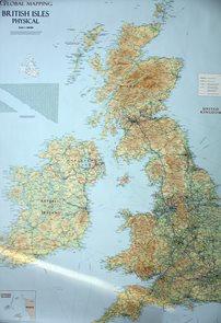 Velká Británie- nástěnná mapa