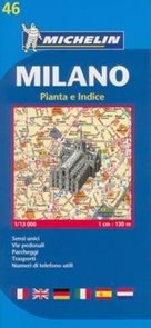 Milano - plán Michelin č.46 - 1:13 000 /Itálie/