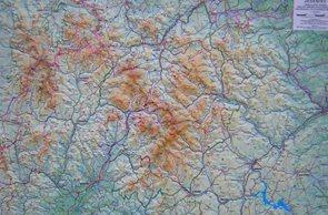 Jeseníky - reliéfní nástěnná mapa - 1:80 000