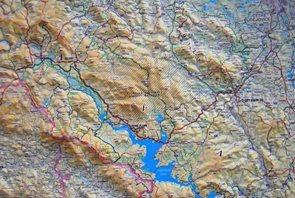 Šumava - reliéfní nástěnná mapa - 1:140 000