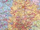 Spediční - Polsko - 1:750 000 - nástěnná mapa /Stiefel/