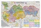 Slovenská republika - administrativní - 1:340 000 - nástěnná mapa /Stiefel/