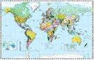 Svět - politické rozdělení - 1:28 500 000 - nástěnná mapa /Stiefel/