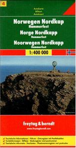 Norsko -4 - Nordkapp - mapa Freytag - 1:400 000