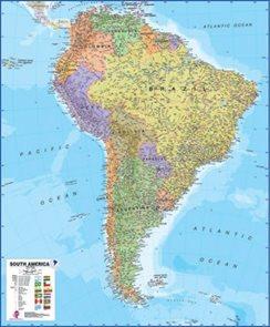 Amerika -jižní- politické rozdělení - nástěnná mapa - 1:7 000 000 /MapsInt-TerraNova/