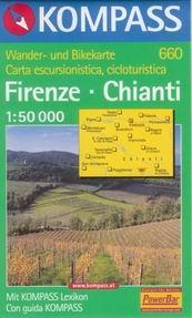 Firenze, Chianti - mapa Kompass č.660 - 1:50t /Itálie/