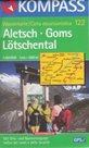Aletsch, Goms, Ltschental - mapa Kompass č.122 - 1:50t /Švýcarsko,Itálie/