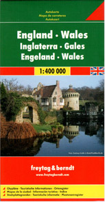 Velká Británie - Anglie, Wales mapa Freytag - 1:400 000