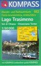 Lago Trasimeno, Val di Chiana, Chianciano Terme - mapa Kompass č.662 - 1:50t /Itálie/
