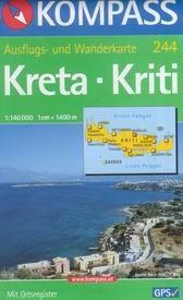 Kréta - mapa Kompass č.244 - 1:140t /Řecko/