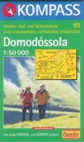 Domodóssola - mapa Kompass č.89 - 1:50t /Švýcarsko,Itálie/
