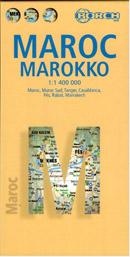 Maroko - mapa Borch - 1:1 400 000