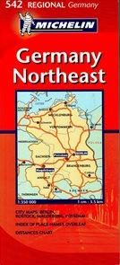 Německo - severovýchod - mapa Michelin č.542 - 1:350 000