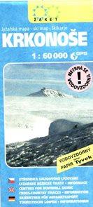 Krkonoše - mapa Žaket zimní 1:60T