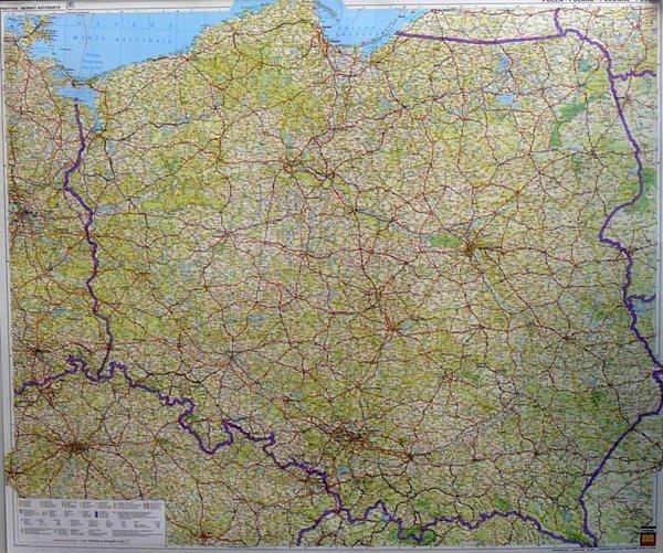 Polsko -Freytag- 1:750 000 - nástěnná mapa - 103x88 cm
