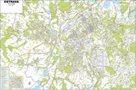 Ostrava -ZES- 1:15 000 000 - nástěnná mapa