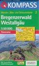 Bregenzerwald, Westallgäu - mapa Kompass č.2 - 1:50t / Rakousko,Německo, Švýcarsko/