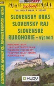 Slovenský kras, Slovenký ráj, Slovenské rudohorie -východ- mapa SHc233 - 1:100t /Slovensko/