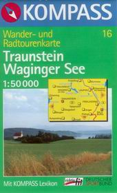 Traunstein,Waginger See - mapa Kompass č. 16 - 1:50t /Německo,Rakousko/