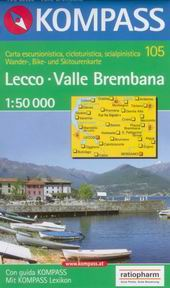 Lecco, Valle Brembana - mapa Kompass č.105 - 1:50t /Itálie/