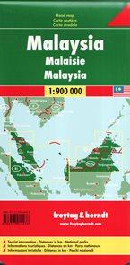 Malaysie - mapa Freytag - 1:600t (západ)/1:900t (východ )